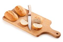 fresh baguette - stock photo
