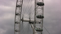 The London Eye sightseeing wheel medium shot Stock Footage