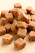 Brown cubes of sugar Stock Photos