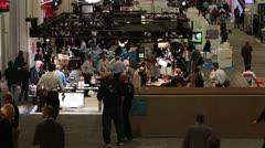Las Vegas Convention center participants business NAB HD 6568 - stock footage