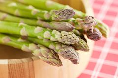 fresh green asparagus - stock photo