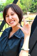 Cute thai lady Stock Photos