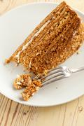 Sweet honey-cake Stock Photos
