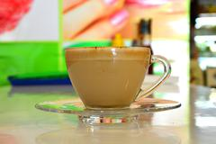 Latte coffee cup Stock Photos