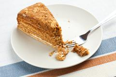 sweet honey-cake - stock photo
