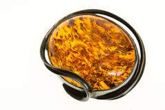 Amber pendant - stock photo