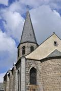 Church of Besse en Chandesse in France - stock photo