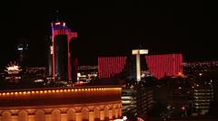 Las Vegas Nevada night Rio Palms Resort Hotel Casino HD 6545 Stock Footage
