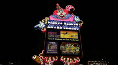 Clown Sign for Circus-Circus Hotel and Casino, Las Vegas Stock Footage