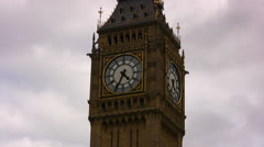Big Ben clock tower in London, England - stock footage