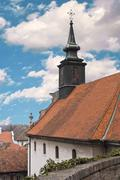 Stock Photo of cross on church