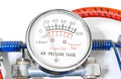 Air pressure gauge Stock Photos