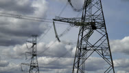 Stock Video Footage of Power Pylons 01
