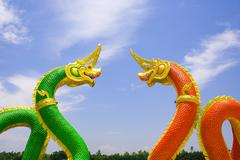 serpent or dragon. - stock photo
