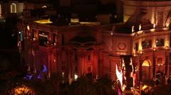 Las Vegas night Forum Caesars Palace Hotel Resort Casino HD 6547 Stock Footage
