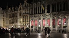 Brussels Grand Place Stock Footage