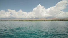 Issyk-Kul lake in the northern Tian Shan mountains in eastern Kyrgyzstan. Stock Footage