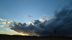 Storm clouds at sunset. Fixed distortion - stock footage
