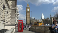 Stock Video Footage of The Elizabeth Tower, popularly called Big Ben, London.