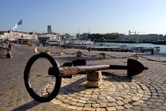 Anchor at La Rochelle in France - stock photo