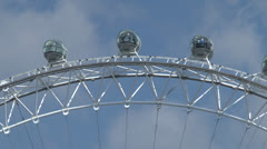The London Eye, on the banks of the River Thames, London. Stock Footage