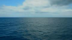 Deep sea and sky horizon Stock Footage