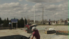 BMXer 720 spin - stock footage