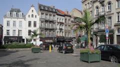 Brussels Petit Sablon Stock Footage