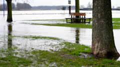 Flood on the river Stock Footage