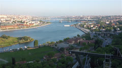 View from Pierre Loti Hill in Istanbul Turkey Stock Footage