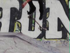 Slow Motion Skateboard on Graffiti Background - stock footage