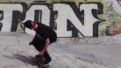 Slow Motion Skateboard Trick - stock footage