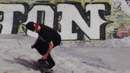 Stock Video Footage of Slow Motion Skateboard Trick