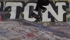 Slow Motion Skateboard Kick Flip Stock Footage
