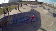 Stock Video Footage of Slow Motion BMX in Skatepark