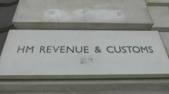 The HM Revenue & Customs logo, London, UK. Stock Footage