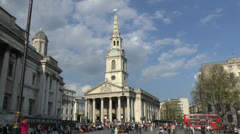 St Martin-in-the-Fields, London, UK. Stock Footage
