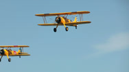 Stock Video Footage of Historic military biplanes boeing stearman flyover