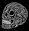 Tattoo tribal mexican skull vector art Stock Illustration