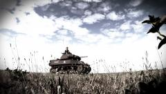 US Army Tank from WWII Stock Footage