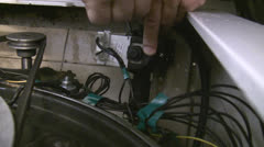 Repair, assembly of electrical appliance Stock Footage