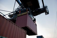 Container loading Stock Photos