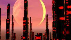 Futuristic city - 3D render Stock Footage