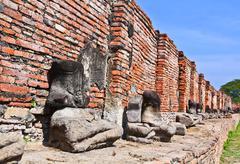 Ruined buddhas Stock Photos