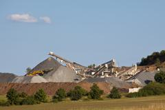gravel pit - stock photo