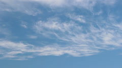 Cirrus and Cirrostratus clouds timelapse 1 Stock Footage