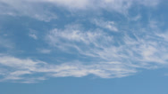Stock Video Footage of Cirrus and Cirrostratus clouds timelapse 1
