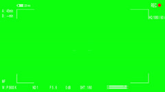 Camera viewfinder green screen 01 Stock Footage