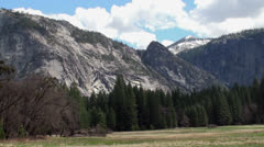 Yosemite valley NP, California (Spring) Stock Footage