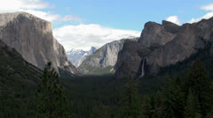 Yosemite Valley from Tunnel View, Yosemite NP, California (Spring) - stock footage